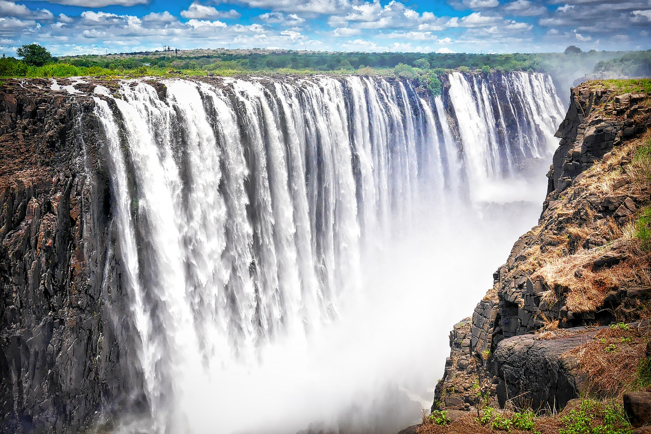 Les chutes Victoria au Zimbabwe