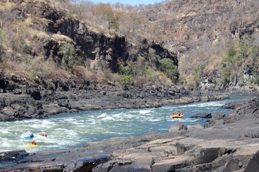 Descendre le Zambèze en Rafting