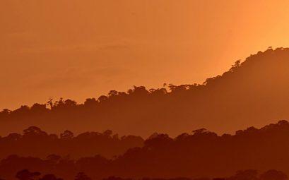 Guyane coucher de soleil