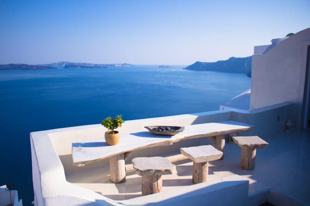 Profiter de Santorin en Grèce