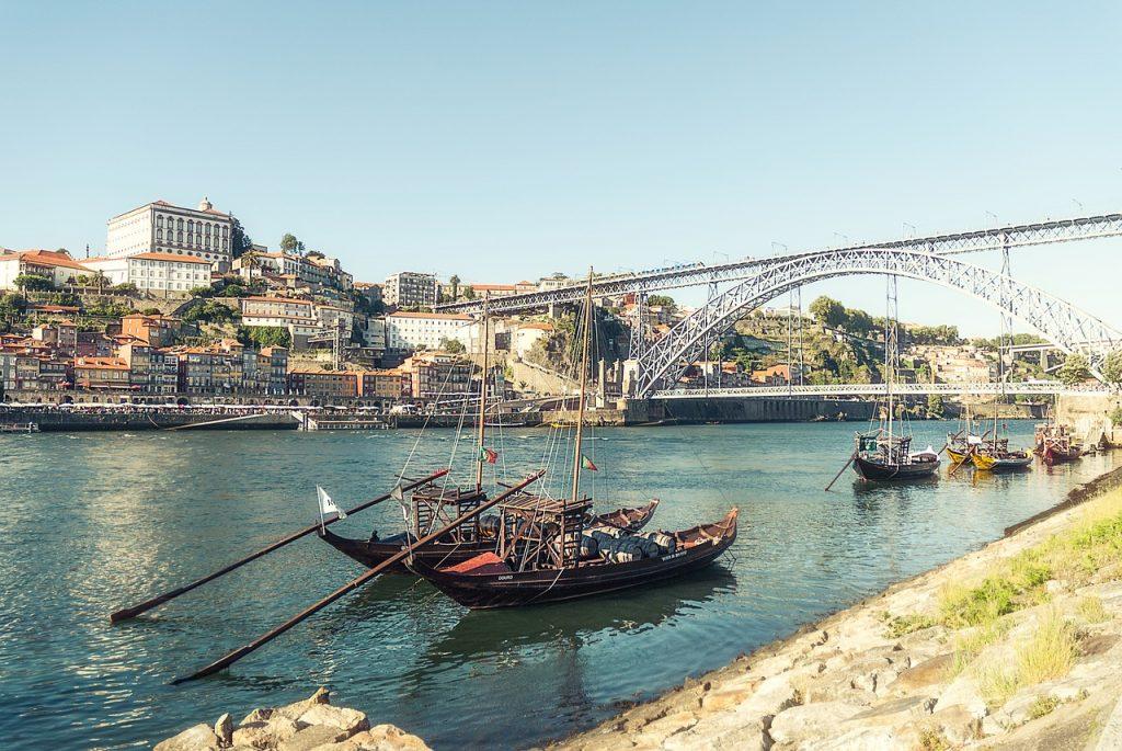 Porto et la rivière de Douro au Portugal